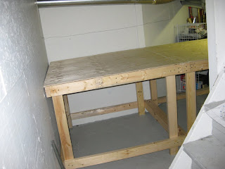 Model train benchwork