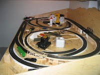 Completed foam trackbed