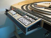 Model train control panel