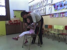 En la escuela nueva San Matias.