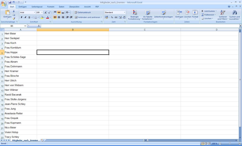 Excel Arbeitsblatt Ende Festlegen : Office probleme einfach lösen namensschilder mit excel
