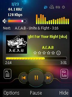 Phần mềm ứng dụng nghe nhạc cho điện thoại S60v3 - Power MP3 crack