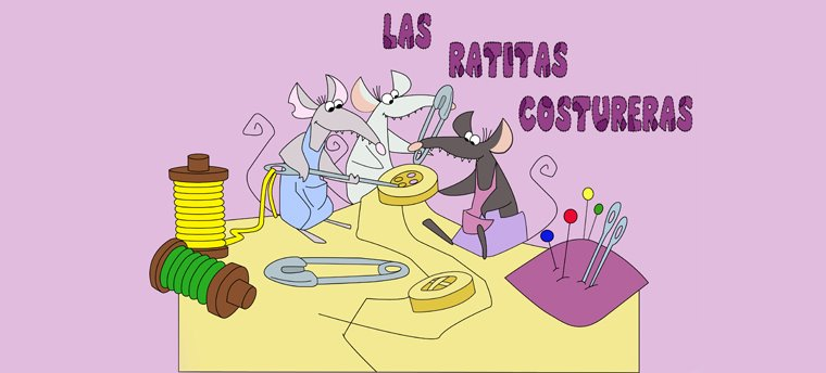 Los broches de fieltro de las ratitas costureras
