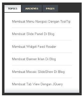 Cara Mudah Pasang Tab View Di Blog