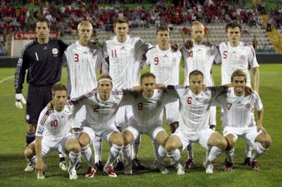 Los 32 equipos que iran al mundial Dinamarca