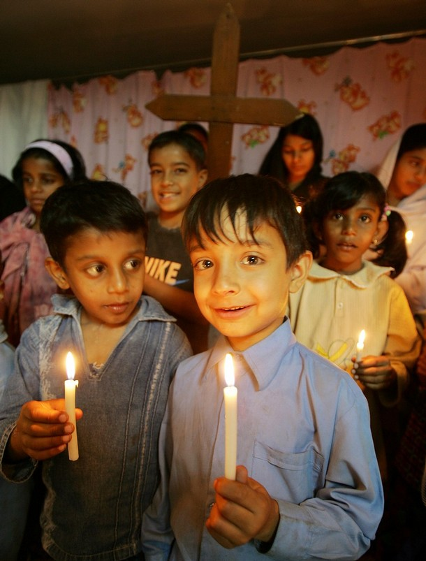 Pakistan%2BChristian%2Bchildren%2Bhold%2Blighted%2Bcandles%2Bas%2Bthey%2Bpray%2Bfor%2B08%2BOctober%2B2005%2Bearthquake%2Bvictims%2Bduring%2Ba%2Bceremony%2Bin%2BMuzaffarabad - Pakistan blasphemy girl in dramatic prison release by helicopter  - Asia | Middle East