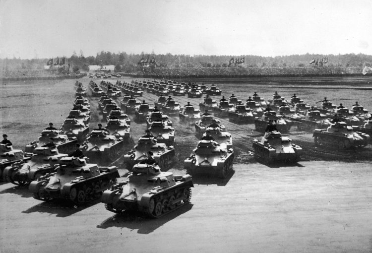 pictures of world war 2 tanks. [Rows+of+German+tanks+are+seen
