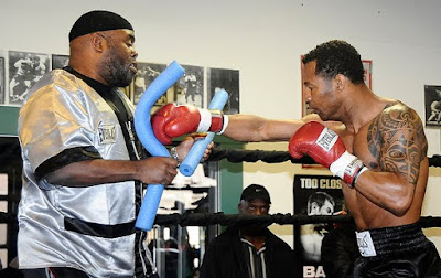 Mosley with trainer Naazim