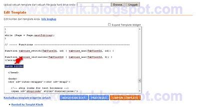 Menampilkan Kode Yang unik di psotingan (2)