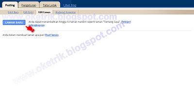 Membuat Halaman Baru (Static Pages)