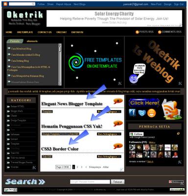 Tampilkan Judul Postingan Saja Pada Home Page - oketrik