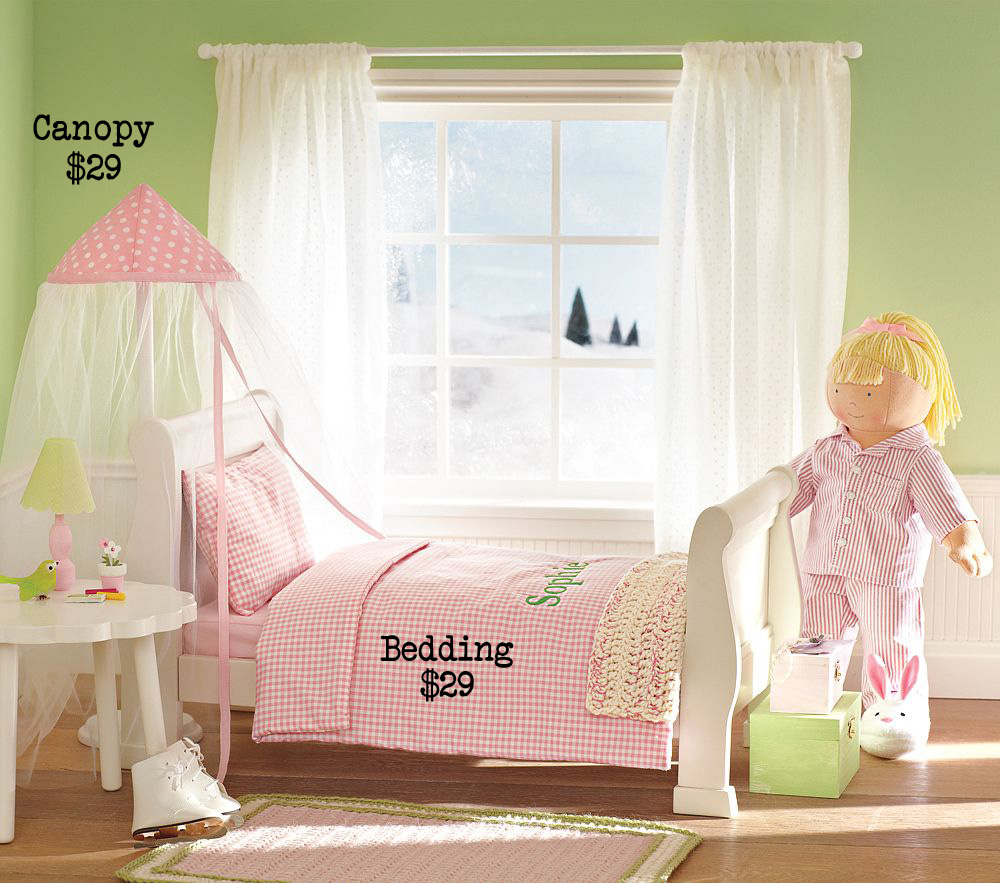 & Pottery Barn Cradle (White out Project #2) Bedding and Canopy