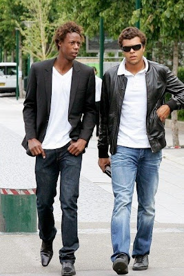 Photo of Gaël Monfils & his friend  Jo-Wilfried Tsonga