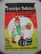 CARTAZ DA FESTA ALEMÃ DE 1995