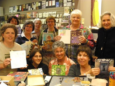 Artful life mixed media and creative journaling workshops for women with Bronwyn Simons, focusing on creativity and life balance