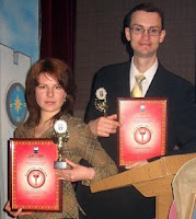 Алина Ковальчук и Богдан Сердюк с дипломами и Никами