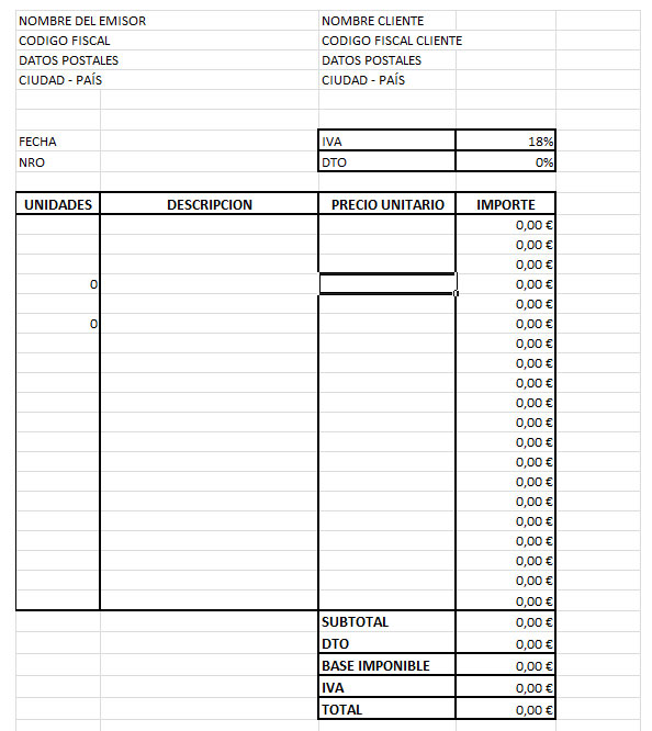 tutoriales excel ejemplo de factura vinculada a hoja de almacen
