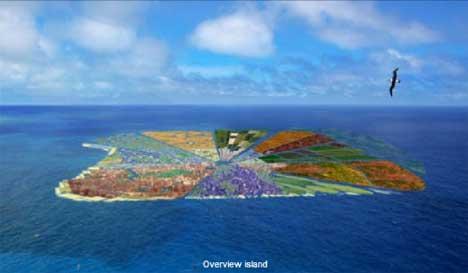 ... architecture untuk membuat sebuah Recycled Island di daerah ini