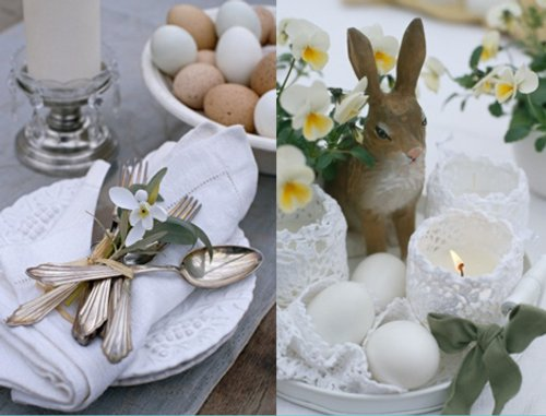 Predominant colours of Easter wedding can be cream white and yellow