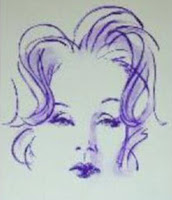 schetch of Marlene Dietrich