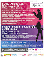 York Lesbian Arts Festival flyer