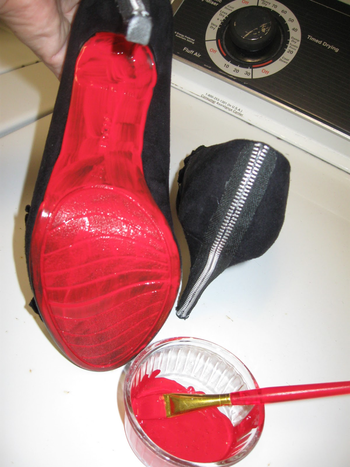 red paint for christian louboutin shoes