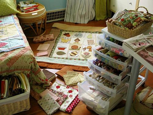 Как навести порядок в швейных лоскутках