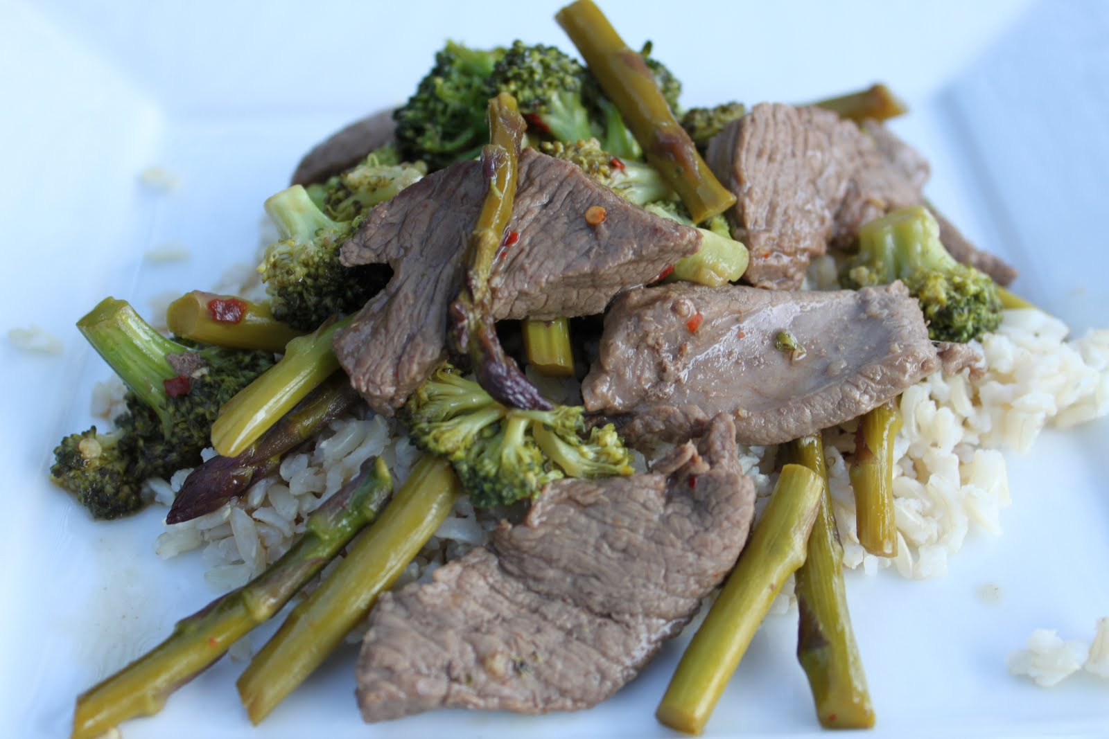 Erin's Eatery: Beef Stir Fry with Broccoli and Asparagus