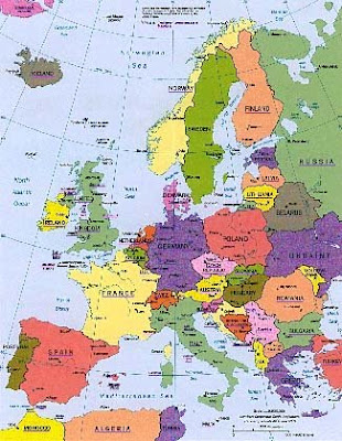 blank map of western europe countries. map of western european