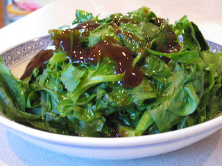 Snow Pea Shoots with Oyster Sauce