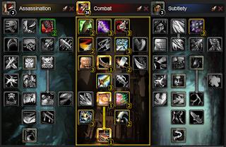 rogue solo combat leveling build