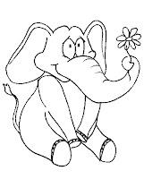 imagini de colorat cu elefanti