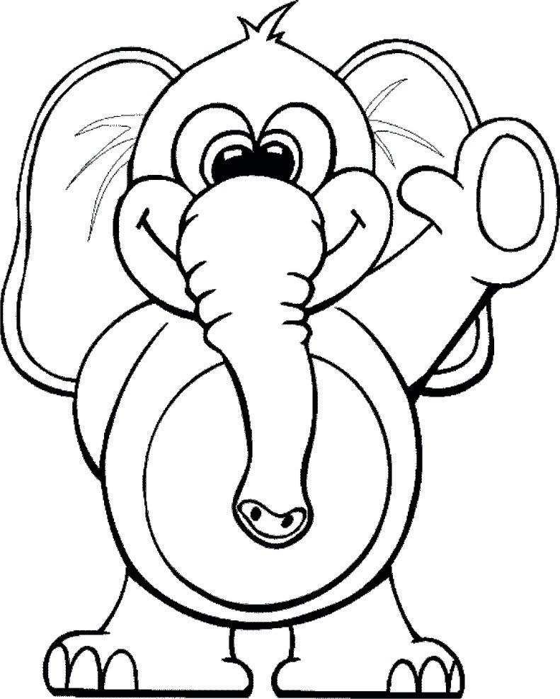 Imagini Si Planse De Colorat Cu Elefanti