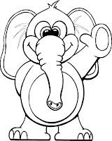 planse de colorat cu elefanti