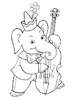 planse si imagini de colorat cu elefanti