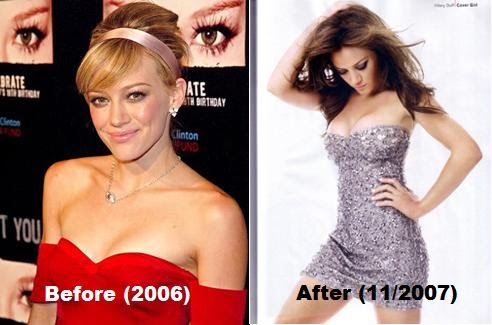 Important and Hillary duff boob peak can