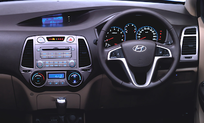 Hyundai i20 interior design