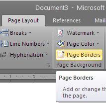 Pilih jenis border yang anda sukai pada pilihan Art