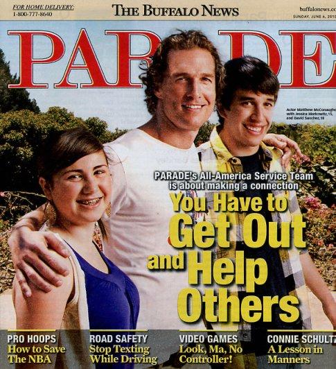 PSD on Matthew McConaughey Parade