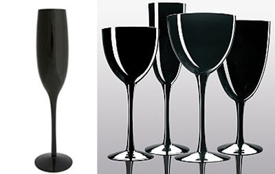 Toast And Tables Stemware Little Black Glasses