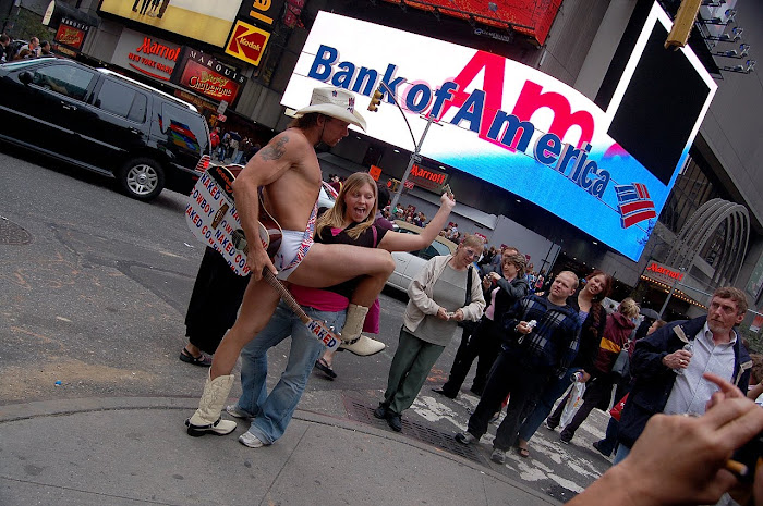 El ¨cowboy¨ de Time Square