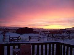 Montana sun rise outside of my front door