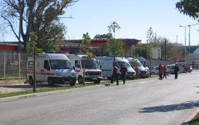 Simulacro de sismo no Barreiro: Ambulâncias