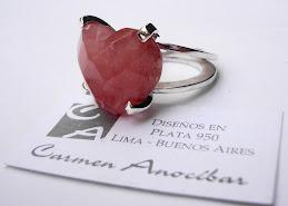 Sortija Corazon cherry