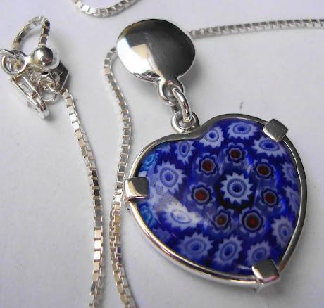 Corazon Milefiori Azul