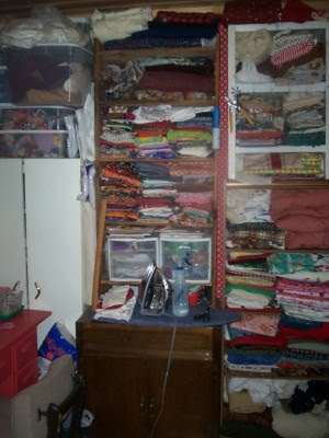 Sewing room with stash