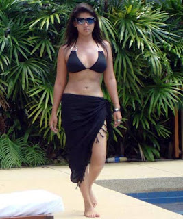 Hot Nayanthara in Swim dress