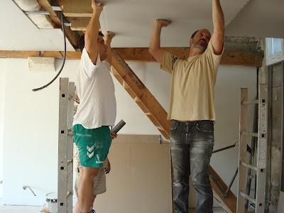 R nover notre maison fin du placo pour le bas for Peindre sur du placo