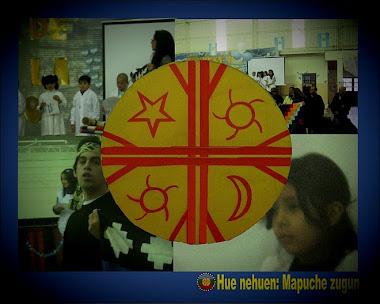 Juramento de la  Fandera Mapuche en Huaki ñielo (Allen)