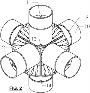 Nuclear Fusion Reactor - FIG. 2 - Six Magnets
